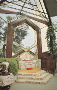 Interior View of Altar, Wayfarers Chapel, Portugese Bend, California 1940-60s