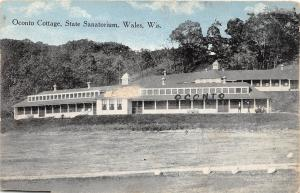E49/ Wales Wisconsin Wi Postcard c1910 Oconto Cottage State Sanitorium
