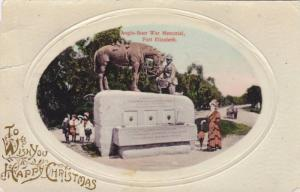 To Wish You A Happy Christmas, Anglo-Boer War Memorial, Port Elizabeth, South...