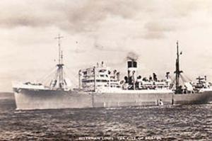 Ellerman Bristol Boat Ship Liner Real Photo Postcard
