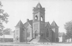 Alta Iowa~M E Church~Methodist Episcopal~Houses down Street~c1910 Real Photo PC