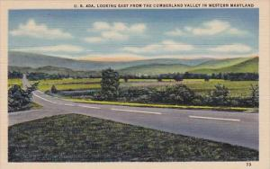 U S 40a Looking East From The Cumberland Valley In Western Maryland Frederick...