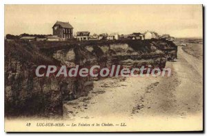 Postcard Old Luc Sea Cliffs and Cottages