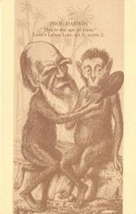 Limited Edition Postcard Darwin, This is the Ape of Form, Loves labor Lost #763