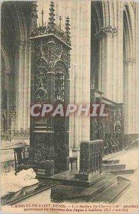 Postcard Abbey of Saint Denis The Stalls Choir (Grade Left)