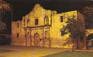 Texas San Antonion The Alamo At Night