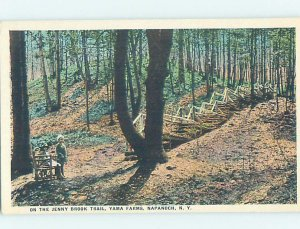 W-border BROOK TRAIL Napanoch by Kingston & Newburgh & Poughkeepsie NY AD4622