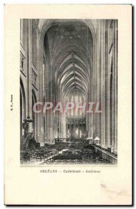 Postcard Old Orleans Cathedrale Interieur