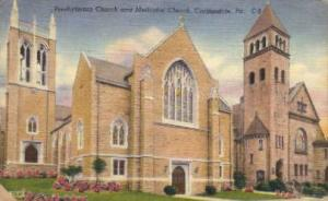 Presbyterian Church & Methodist Church Carbondale PA 1959