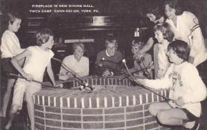Pennsylvania York Fireplace In New Dining Hall Y W C A Camp Camp Kon O Kwee  ...