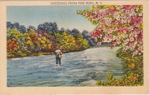 New York Greetings From Pine Bush 1948