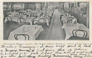 NEW YORK CITY , 1907 ; Moore's Restaurant, 161 West 23rd Street