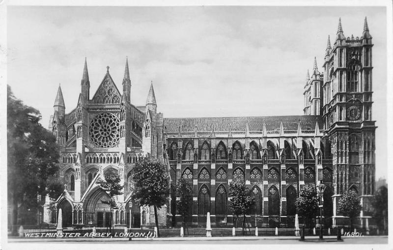 uk39142 westminster abbey london real photo uk lot 20 uk