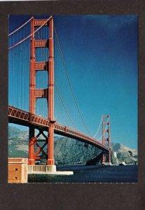 CA Golden Gate Bridge San Francisco California Postcard
