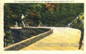 Horeshoe Curve Catskill Mountains NY 1938