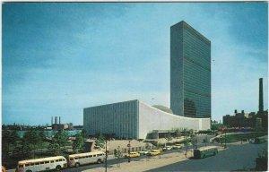 Vintage Postcard, United Nations Buildings, New York City, New York