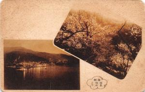 Japan Town General view Lake Lac Panorama Forest Landscape