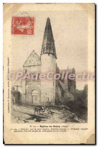 Postcard Ancient Church of Bury Oise