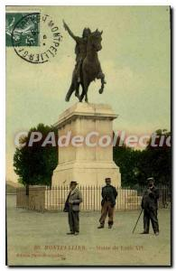 Postcard Old Montpellier Louis XIV Statue