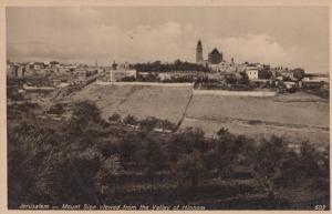 Mount Sion Jerusalem Real Photo Postcard