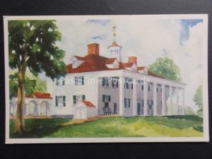 USA: Fairfax County VIRGINIA Mount Vernon EAST FRONT - George Washington c1934