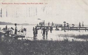 PAW PAW, Michigan, 1913 ; Bathing Scene , Strong's Landing