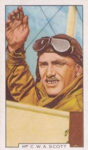 CWA Scott Australian Record Breaking Pilot Aviator 1930s Cigarette Card