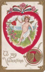 Valentine's Day Cupid With Red Heart