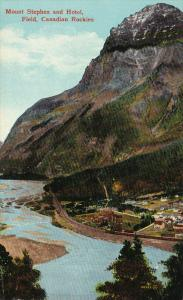 Mount Stephen and Hotel, Field, Canadian Rockies, British Columbia, Canada, 0...