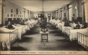 Bruxelles Hopital Hospital Brugmann c1915 Postcard #5 Salle Joffre Le Raincy