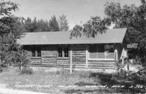 Lewiston Michigan Tullhart Resort Real Photo Vintage Postcard JF685184