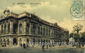 Theatre Flamand Anvers, Belgium 1910 Stamp on front