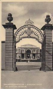 The Queens Gateway in the Rosenborg Garden and the Stat Art Gallery, Copenhag...