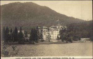 Dixville Notch NH White Mountains Lake Gloriette & Balsams Hotel RPPC c1920