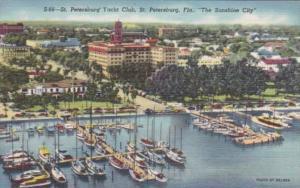 Florida St Petersburg The Yacht Club Curteich