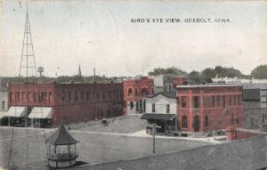 Odebolt Iowa birds eye view horse buggy businesses antique pc Z41354