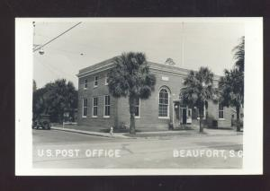 RPPC BEAUFORT SOUTH CAROLINA UNITED STATES POST OFFICE VINTAGE POSTCARD S.C.