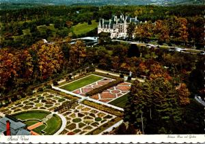 North Carolina Asheville Biltmore House and Gardens Aerial VIew