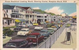 New Hampshire Hampton Beach Ocean Boulevard Looking North 1957 Curteich sk5251