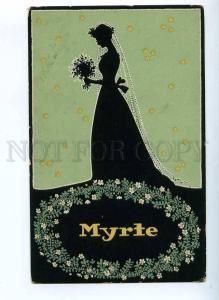 189482 Spring MYRTE Wedding Vintage ART NOUVEAU Silhouette PC