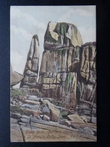 Cornwall Scilly Isles ST. MARY'S Tooth Rock, Peninnis Head Old Postcard by Frith
