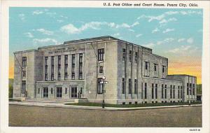 Oklahoma Ponco City Post Office and Court House Curteich
