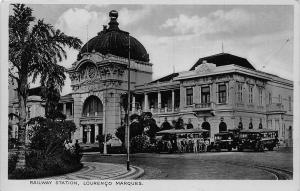 Mozambique Maputo Railway Station Lourenco Marques Postcard