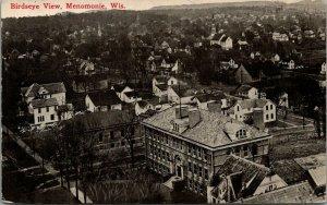 Menomonie WIBird's Eye of Big Schools~Rooftops of Homes~Lean-To's~Sheds 1913 BP&
