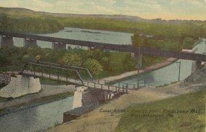 WILLIAMSPORT , Maryland , 1900-10s ; Canal , Bridge