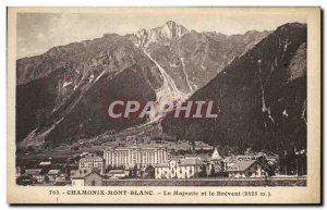 Old Postcard Chamonix Le Majestic and Brevent