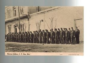 Mint Mexico Revolution RPPC Federal Soldiers on Parade real picture postcard