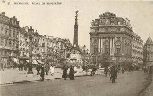 Belgium Brussels Bruxelles Place de Brouckere animated