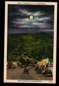 Cherokee, N.C. by Moonlight Noble Mountain in Background., Unused