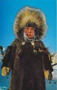 Eskimo Youngster, Yellowknife, N.W.T., Canada, 1940-1960s